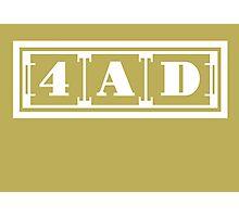 4AD Records logo (white) Photographic Print