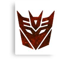 Red Galaxy - Decepticon Canvas Print