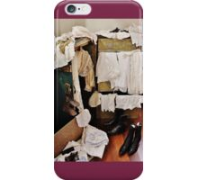 Vintage Clothing and a Steamer Trunk iPhone Case/Skin
