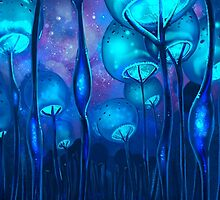 Jellyfish Bubble Forest by Kim Kresan