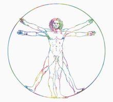 Leonardo da Vinci Vitruvian Perfect Man by Jason Levin
