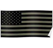 American Flag - Olive Poster
