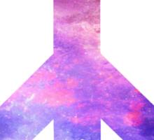Peace Sign Galaxy Sticker