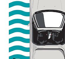 Honda Delsol Towel inspired - Frost White by WinkArt