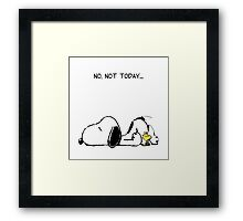 No, not today. Framed Print