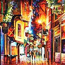 In The Streets Of London — Buy Now Link - www.etsy.com/listing/216182031 by Leonid  Afremov