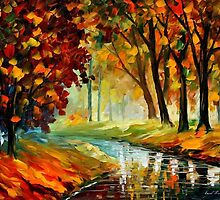 Happy Stream — Buy Now Link - www.etsy.com/listing/155900960 by Leonid  Afremov