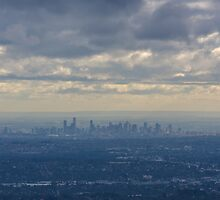 Melbourne from above by William Vaux