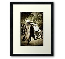 Trenchcoat Cowboy Framed Print
