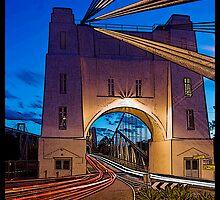 Walter Taylor Bridge - Indooroopilly.  Brisbane, Queensland. by Peter Ford