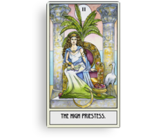 The High Priestess - Card Canvas Print