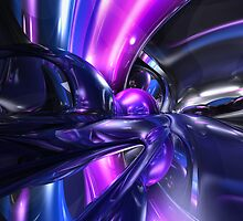 Vivid Waves Abstract by Alexander Butler