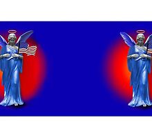 ✌ SAFE BENEATH THE WINGS OF AN ANGEL (WITH UNITED STATES FLAG) MUG TRIBUTE TO U.S.A.✌ by ✿✿ Bonita ✿✿ ђєℓℓσ