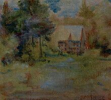 Dreamscape with Cottage by Edward Huse