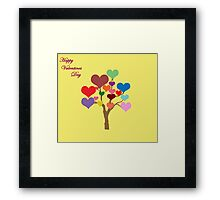 Tree of Hearts (Happy Valentines) Framed Print