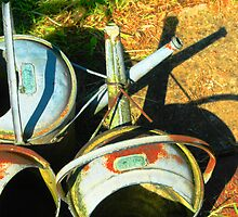 Three gallon watering cans by Tony Hadfield