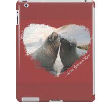 Give Us A Kiss (Seal Valentine)  iPad Case/Skin