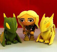Daenerys & The Dragons by FendekNaughton