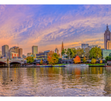 Melbourne City by the Yarra River Sticker