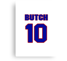Basketball player Butch Graves jersey 10 Canvas Print