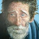 Man with the world in his eyes by Carole Russell