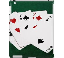 Poker Hands - Four Of A Kind - Sevens and Two iPad Case/Skin