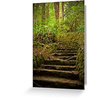 Up the garden path, The Dandenongs Greeting Card