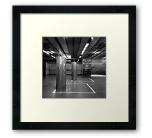 Stand Clear of the Lines! Framed Print