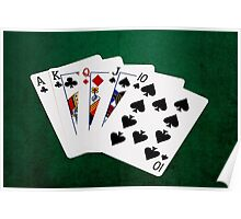 Poker Hands - Straight - Ace To Ten Poster