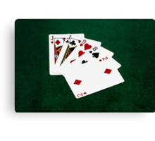 Poker Hands - One Pair - Jacks Canvas Print
