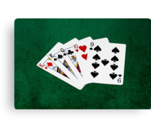 Poker Hands - One Pair - Kings Canvas Print