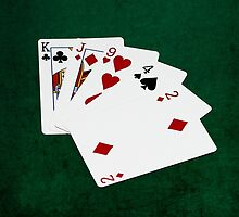 Poker Hands - High Card - King by luckypixel