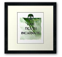 I am Death Framed Print