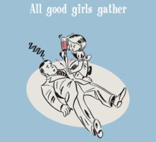 BioShock – All Good Girls Gather Poster (White) Kids Clothes