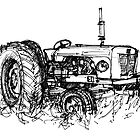 David Brown Tractor by Tony Gillan