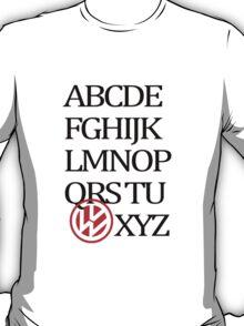 VolksWagen Alphabet T-Shirt