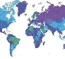 World Map Colourful by musiclove