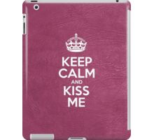 Keep Calm and Kiss Me - Glossy Pink Leather iPad Case/Skin