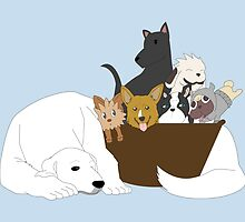 Basket of Puppies by pasta-kitty