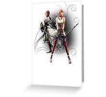 Final Fantasy XIII-2 - Lightning (Claire Farron) and Serah Farron Greeting Card