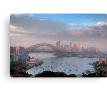 Watercolours - Moods Of A City #37 - The HDR Series , Sydney Australia Canvas Print