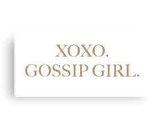 XOXO GOSSIP GIRL Canvas Print