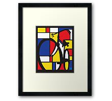 Mondrian Bicycle Framed Print