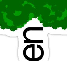 GREEN iii Sticker