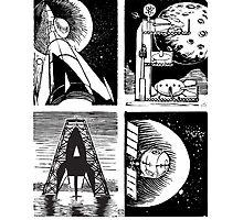 Read! Science Fiction Alphabet Letter design by Monkeynaut