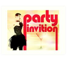 Party Invitation Art Print