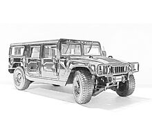 Hummer H1 Photographic Print