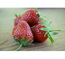 A close-up image  of strawberries Photographic Print