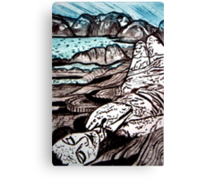 The Lady is the Landscape - Drypoint Etching Canvas Print