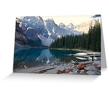 Lake Moraine – Banff National Park, Alberta, Canada Greeting Card